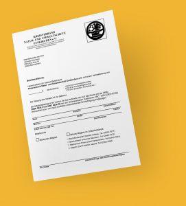 Kreisverband Natur- und Umweltschutz Kreis Euskirchen e.V. – Beitrittserklärung